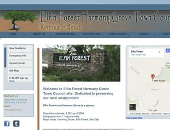Main page screenshot of efhgtc.org