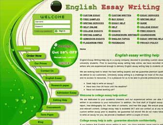 Main page screenshot of english-essay-writing-help.org