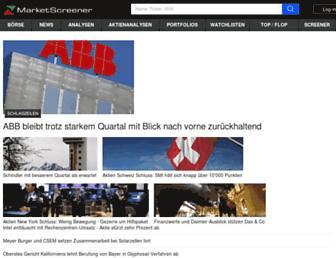 ch.marketscreener.com screenshot