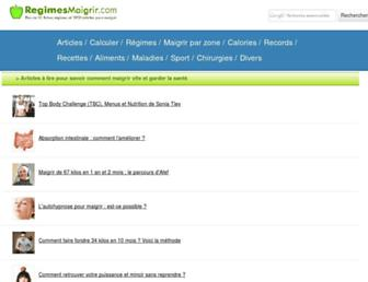 regimesmaigrir.com screenshot