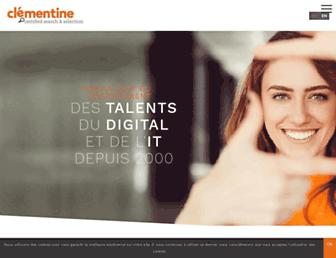clementine.jobs screenshot