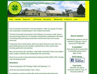 kentcloverleafconservationclub.org screenshot