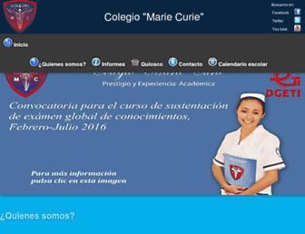 mariecurie.edu.mx screenshot