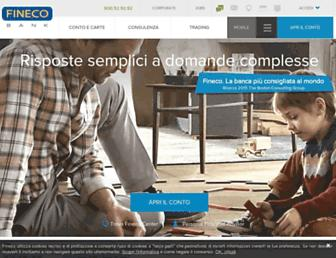 Main page screenshot of fineco.it