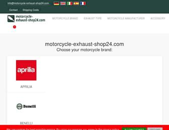 motorcycle-exhaust-shop24.com screenshot