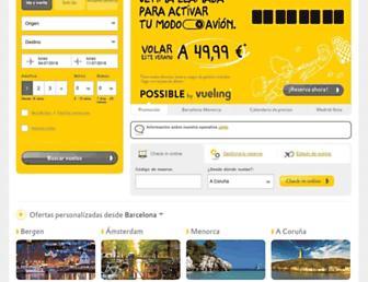 vueling.com screenshot