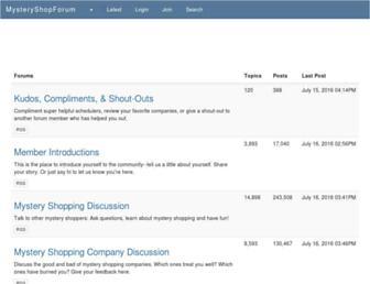 mysteryshopforum.com screenshot
