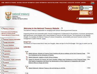 treasury.gov.za screenshot