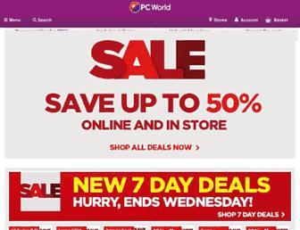 Main page screenshot of pcworld.co.uk