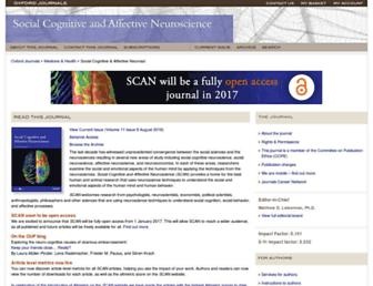 Main page screenshot of scan.oxfordjournals.org
