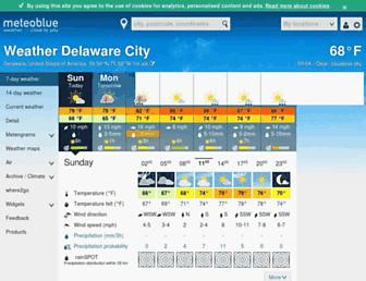 meteoblue.com screenshot