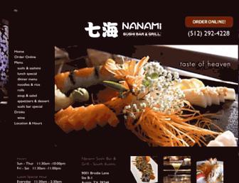 nanamisushi.com screenshot