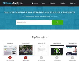 scamanalyze.com screenshot