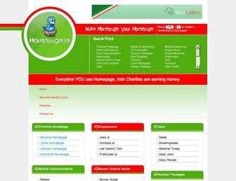 homepage.ie screenshot
