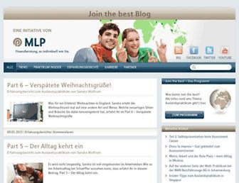 Main page screenshot of jointhebest-blog.de