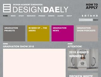 Main page screenshot of designacademy.nl