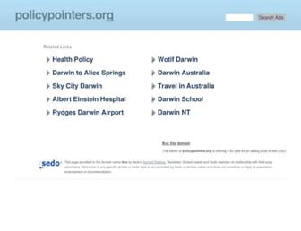 Main page screenshot of policypointers.org