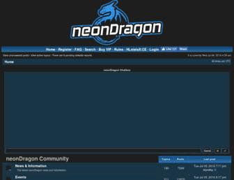 Main page screenshot of neondragon.net