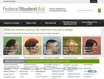 studentaid.gov screenshot