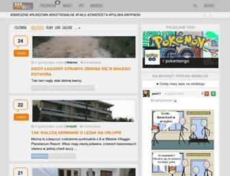 Main page screenshot of milanos.pl