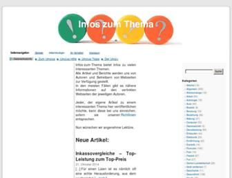 Main page screenshot of infos-zum-thema.de