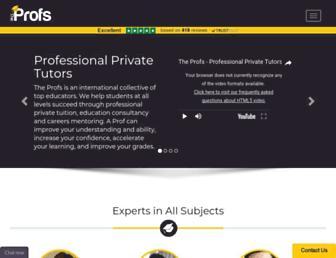 theprofs.co.uk screenshot