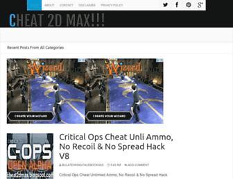 cheat2dmax.blogspot.com screenshot