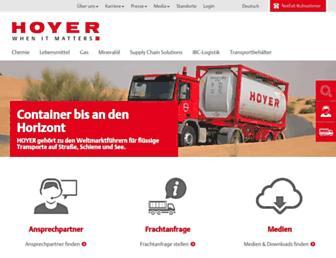 hoyer-group.com screenshot