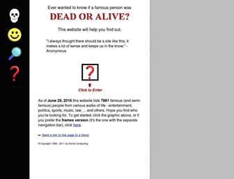 Thumbshot of Deadoraliveinfo.com