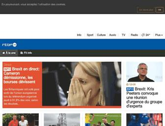 Main page screenshot of rtbf.be