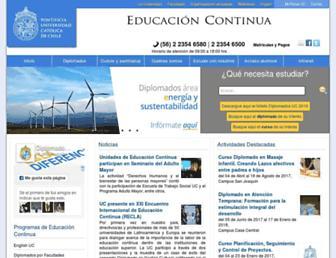 educacioncontinua.uc.cl screenshot