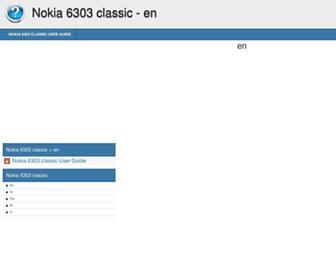 nokia-6303-classic.helpdoc.net screenshot