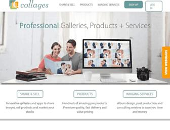 Main page screenshot of collages.net