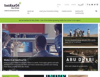twofour54.com screenshot