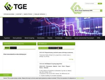 tge.pl screenshot