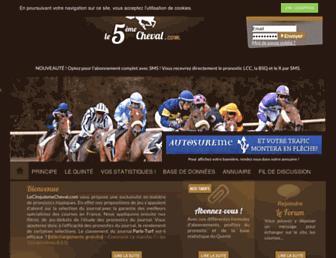 lecinquiemecheval.com screenshot
