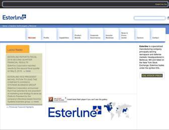 esterline.com screenshot