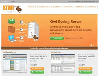kiwisyslog.com screenshot