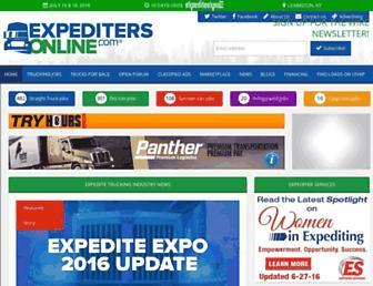 expeditersonline.com screenshot
