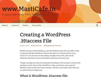 Main page screenshot of masticafe.in