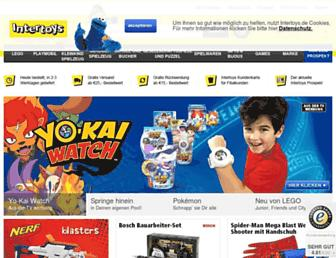 Main page screenshot of intertoys.de