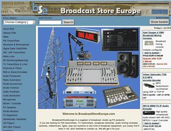 broadcaststoreeurope.com screenshot