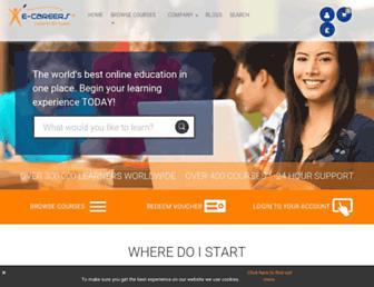 e-careers.com screenshot