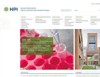 Main page screenshot of hpi-hamburg.de