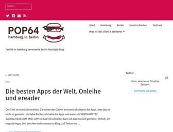 Main page screenshot of pop64.de