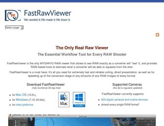 fastrawviewer.com screenshot