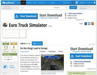 euro-truck-simulator.en.softonic.com screenshot