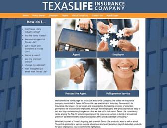 texaslife.com screenshot