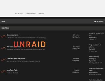 forums.unraid.net screenshot