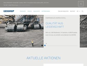 de.gedore.com screenshot